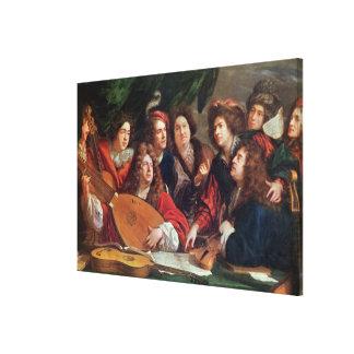 La sociedad musical, 1688 impresiones de lienzo