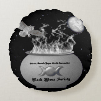 La sociedad negra de la luna adornó la almohada cojín redondo