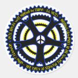 La sociedad utópica tendrá bicicletas pegatina redonda