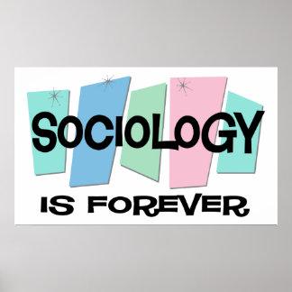 La sociología es Forever Póster