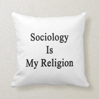 La sociología es mi religión almohadas