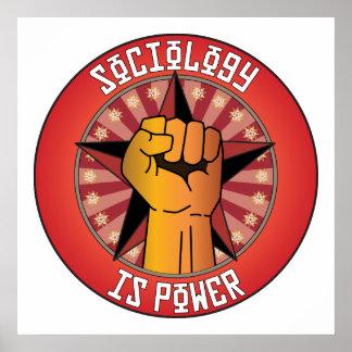 La sociología es poder póster