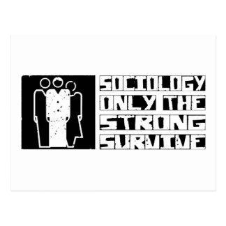 La sociología sobrevive postales