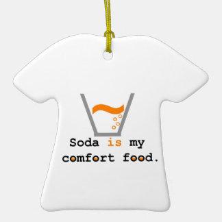 La soda es mi comida de la comodidad ornamentos de navidad