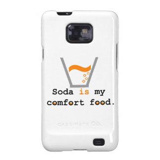 La soda es mi comida de la comodidad samsung galaxy SII funda