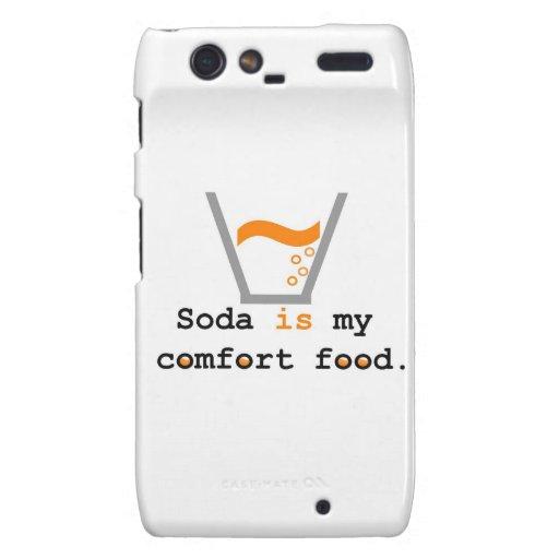 La soda es mi comida de la comodidad droid RAZR carcasa