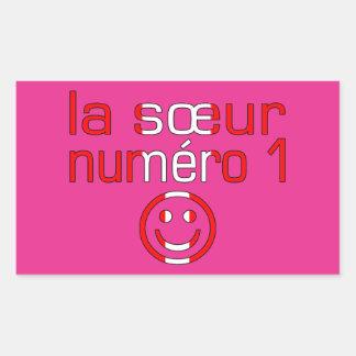 La Sœur Numéro 1 - Number 1 Sister in Canadian Rectangular Stickers