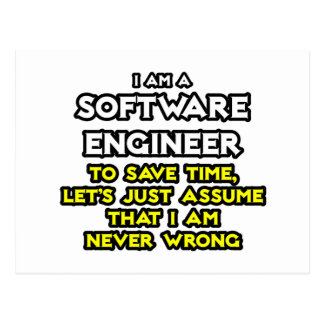 La Software Engineer… asume que nunca soy Tarjeta Postal