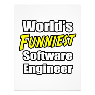 La Software Engineer más divertida del mundo Flyer Personalizado