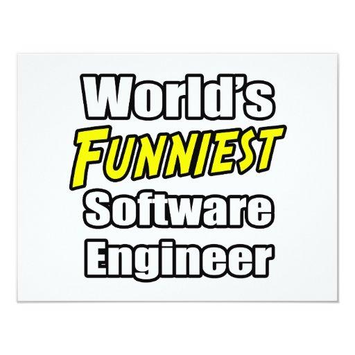 """La Software Engineer más divertida del mundo Invitación 4.25"""" X 5.5"""""""