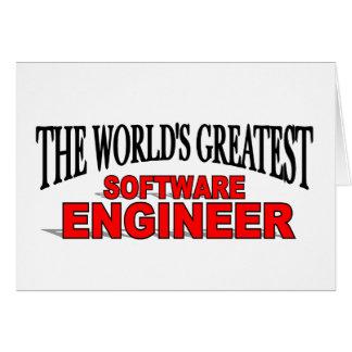 La Software Engineer más grande del mundo Tarjeta De Felicitación