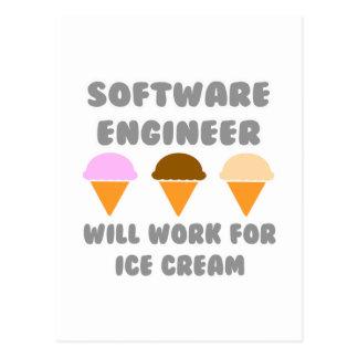 La Software Engineer… trabajará para el helado Tarjeta Postal