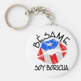La soja Boricua de Besame me besa que soy puertorr Llavero Redondo Tipo Pin