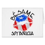 La soja Boricua de Besame me besa que soy puertorr Tarjetas