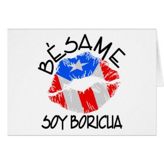 La soja Boricua de Besame me besa que soy puertorr Tarjeta De Felicitación