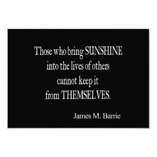 La sol de James Barrie Sun del vintage en vidas Invitación 8,9 X 12,7 Cm