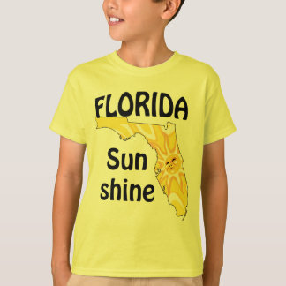 La sol de la Florida embroma la camiseta