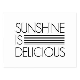 La sol es deliciosa tarjetas postales