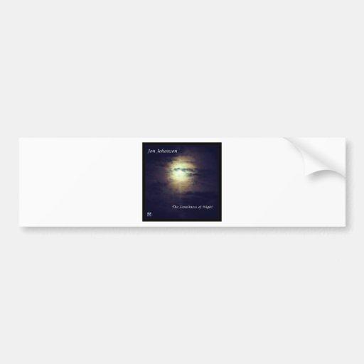 La soledad de la noche etiqueta de parachoque