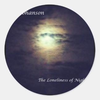 La soledad de la noche pegatina redonda