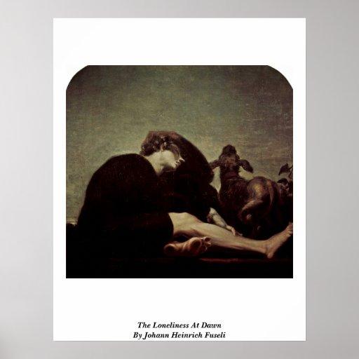 La soledad en el amanecer de Juan Heinrich Fuseli Posters