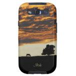 La soledad Samsung de la puesta del sol encajona Samsung Galaxy S3 Cobertura