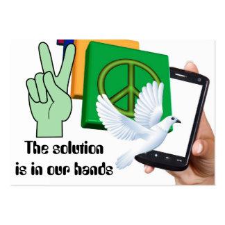 La solución está en nuestras manos tarjeta de visita