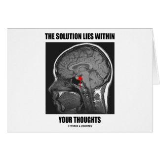 La solución miente dentro de sus pensamientos (la  felicitacion