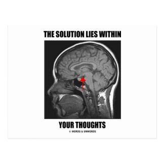 La solución miente dentro de sus pensamientos (la postal