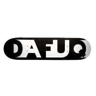 La sombra de Dafuq bloquea el monopatín Tabla De Skate