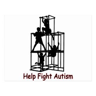 la sombra del autismo tarjeta postal