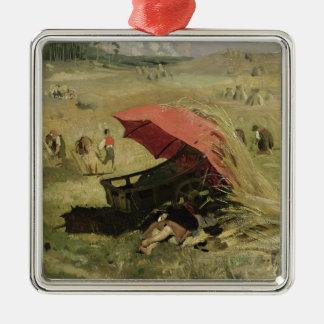La sombrilla roja, c.1860 adorno de navidad
