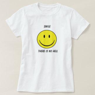 """La """"sonrisa, allí no es camiseta de ningún"""