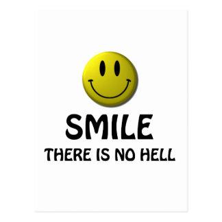 La sonrisa allí no es ningún infierno tarjetas postales