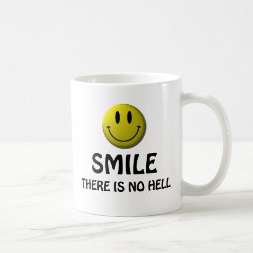 La sonrisa, allí no es ningún infierno tazas de café