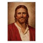 La sonrisa cariñosa del Jesucristo Tarjeta