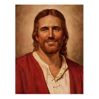 La sonrisa cariñosa del Jesucristo Tarjetas Postales