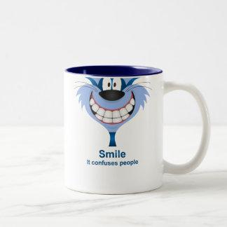 La sonrisa confunde a gente tazas de café