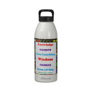 La sonrisa de la CÓLERA cree la sabiduría del Botella De Agua Reutilizable