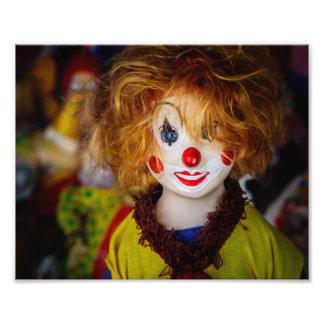 La sonrisa en un juguete del payaso fotografías