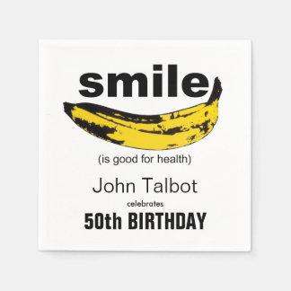 La sonrisa es buena - las 50.as servilletas de servilletas de papel