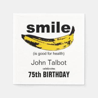 La sonrisa es buena - las 75.as servilletas de servilleta de papel