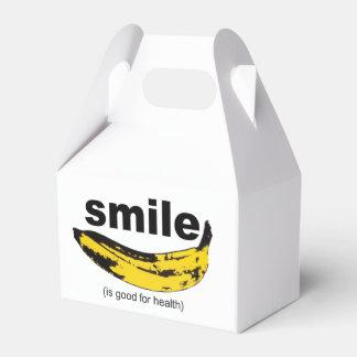 La sonrisa es buena para la salud - favorezca la caja para regalos