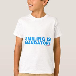 La sonrisa es obligatoria playera