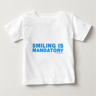 La sonrisa es obligatoria playera de bebé