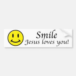 La sonrisa, Jesús le ama pegatina para el parachoq Pegatina Para Auto