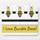 La sonrisa manosea la abeja Mousepad Tapetes De Ratones