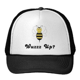 ¿La sonrisa manosea la abeja Wuzz para arriba? Gorros Bordados