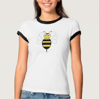 La sonrisa manosea la camisa de la abeja