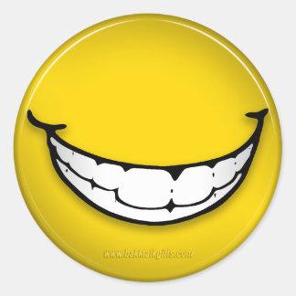 La sonrisa… pegatinas redondas